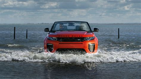 land rover water range rover evoque convertible