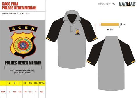 Kaos Dalam Polisi Kombinasi spak konveksi seragam kantor pakaian kerja