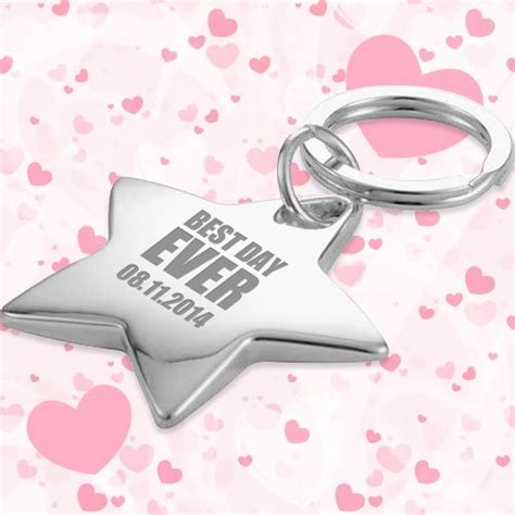 Wedding Keychains by Wedding Favors Shaped Keychains W Ring Silver