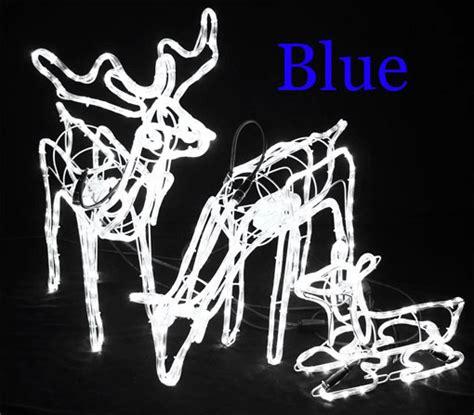 Moving Blue Deer Moving Blue 24v set of 3 animated led blue 3d deer family