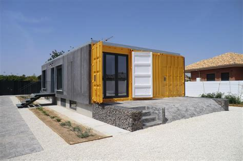 reused sea container house  mutxamel construction