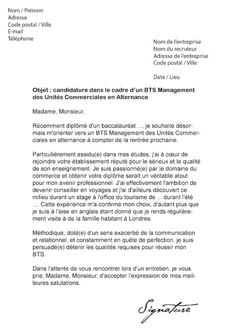 Lettre De Motivation Vendeuse Alternance Modele Lettre De Motivation Alternance Bts Muc Document