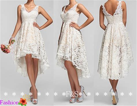high  ivory lace bridesmaid dress sexy  neck prom