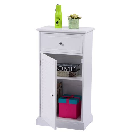 Cabinet Door Organizers Bathroom Storage Floor Cabinet Wall Shutter Door Bathroom Organizer Cupboard Shelf White Ebay