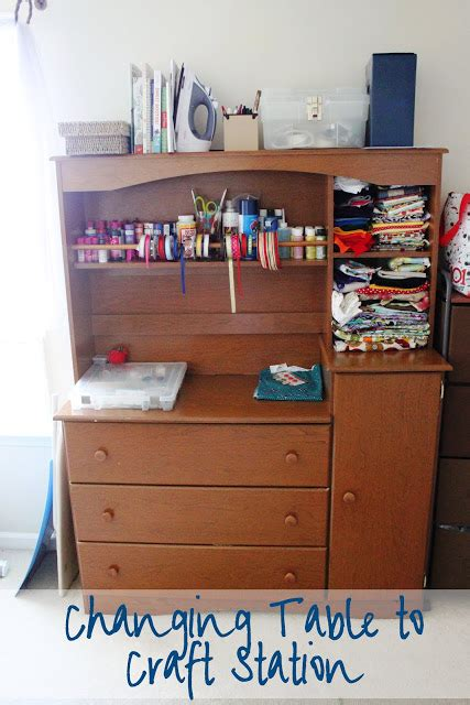 Changing Table Hutch Combo My Own Road Changing Table To Craft Station