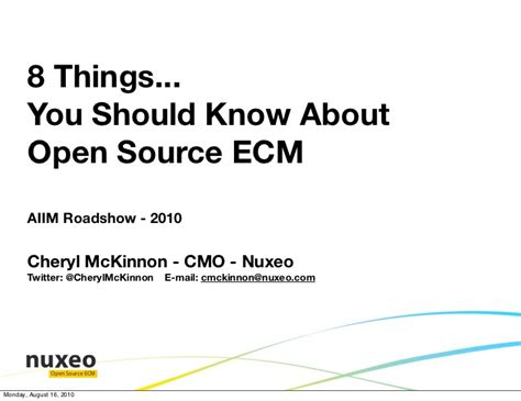 8 Things Your Should Do For You by 8 Things You Should About Open Source Ecm