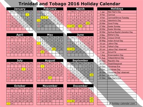 unique holidays unique holiday calendar trinidad calendar