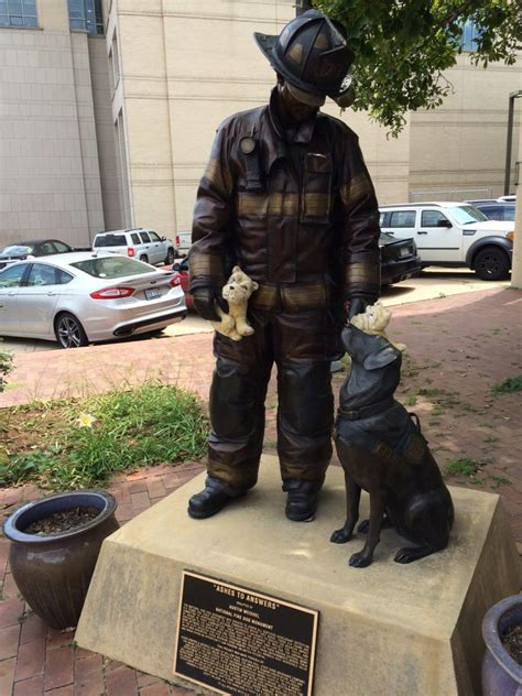 firehouse dog house national fire dog monument honors arson teams