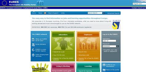 eures the european job mobility portal resume templates
