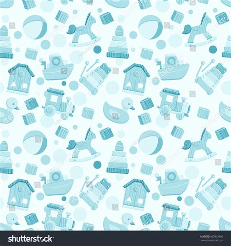 svg pattern fill color seamless pattern baby toys blue colors stock vector
