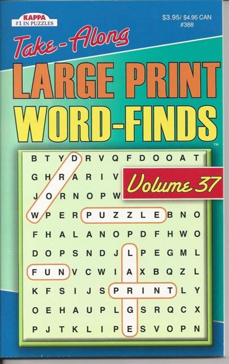 large print word finds puzzle book word search volume 241 books kappa take along large print word search puzzle book