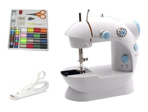 Quality Mesin Jahit Mini Domestic 202 New Color michley lil sew sew lss 202 combo mini sewing machine electrical scissors