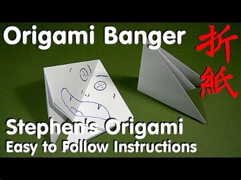 How To Make A Paper Banger Easy - how to fold origami banger easy step by step