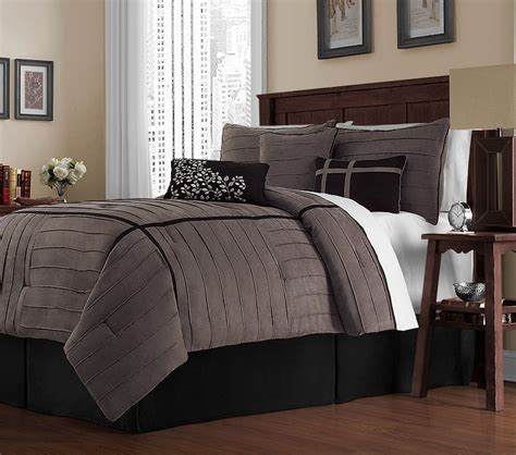 clearance 7pc luxury bedding set audrey grey charcoal