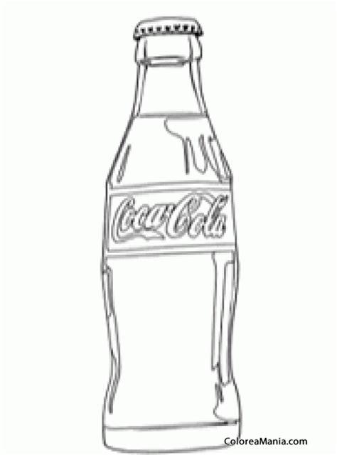 dibujos realistas botella colorear botella de coca cola bebidas dibujo para