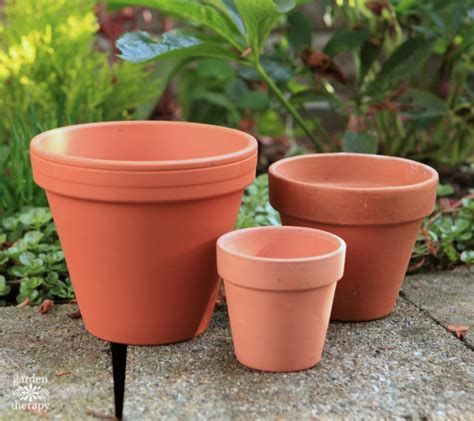 Terracotta Garden Pots My Gilty Pleasure Gold Painted Flowerpots Garden Therapy