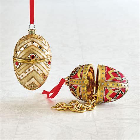 holiday egg keepsake christmas ornaments gump s