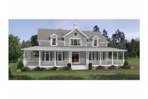 Farmhouse Floor Plans With Wrap Around Porch Eplans Colonial House Plan Irresistible Wraparound Porch