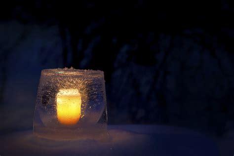 gartendeko im winter gartendeko im winter windlichter aus eis selber basteln