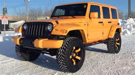 orange jeep lifted orange jeep 4 door autos post