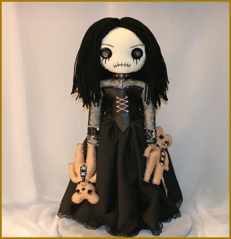 Creepy Handmade Dolls - ooak stitched rag doll creepy folk by jodi