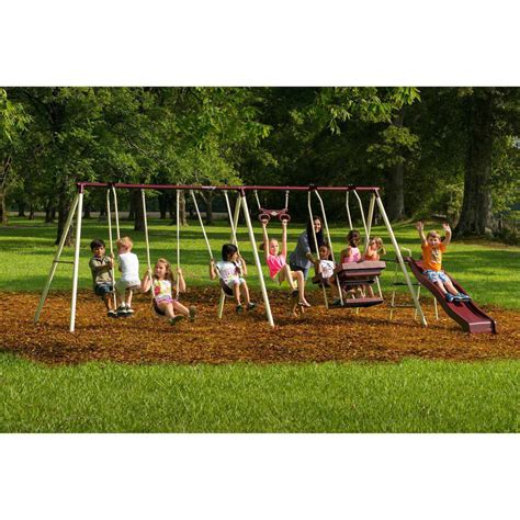 backyard metal swing sets flexible flyer play park flyer outdoor metal swing set