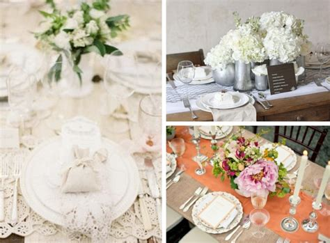wedding reception decor centerpieces vintage