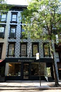farrow and ball s wallpaper covered store in new york 171 emily wheeler