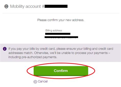 Telus Find Change Your Mobility Billing Address In My Account