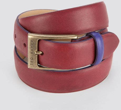 Ted Baker Belt Colour Block ted baker bigbrit color block leather belt in for