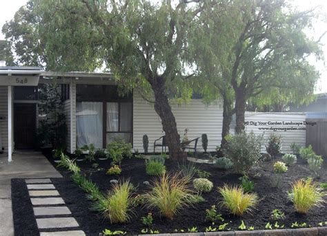 mid century modern landscaping mid century modern landscape transformation midcentury landscape san francisco by dig