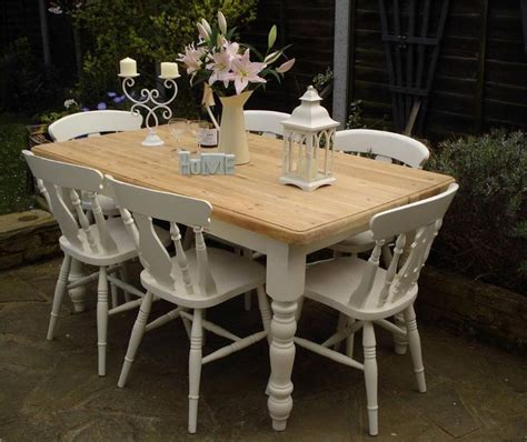 shabby chic table and bench shabby chic dining table peenmedia com