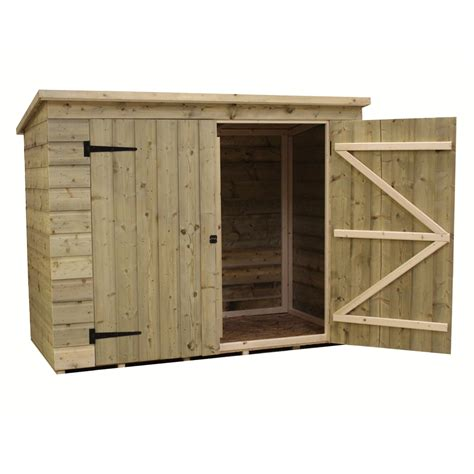 6 x 3 pressure treated tongue and groove bike store with