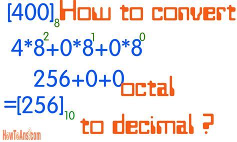 calculator octal convert decimal base 10 to octal