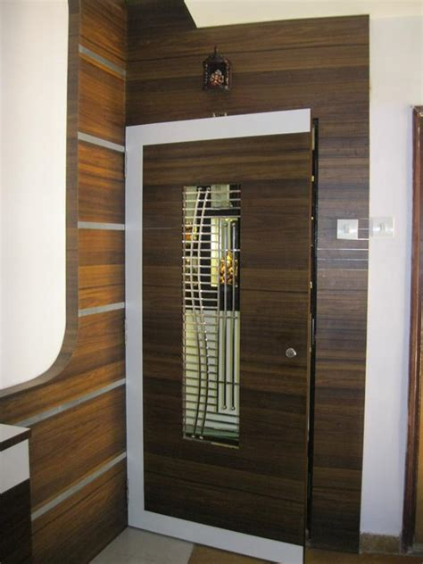 wooden safety door designs for flats