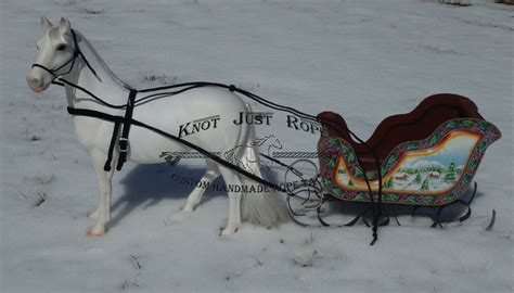 sleigh harness battat american our generation harness for carriage buggy or sleigh ebay