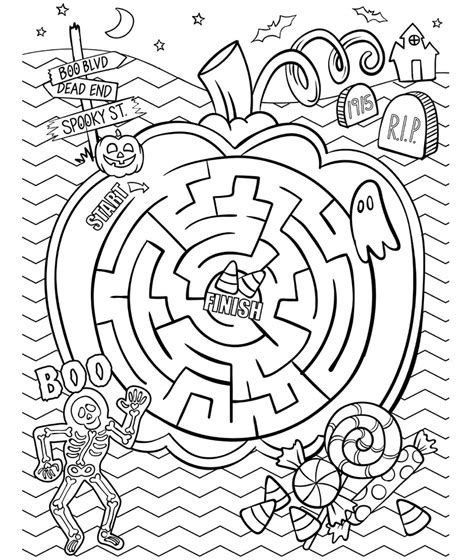 halloween coloring pages crayola halloween maze coloring page crayola com halloween