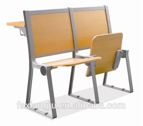 folding used attached school desk and chair with armrest