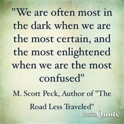 the road less stupid books 1000 ideas about m peck on quotes the