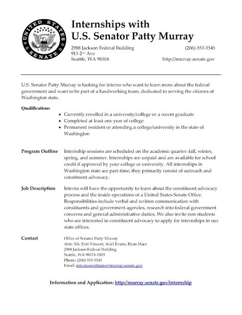 cover letter for government internship politics and government of puget sound august 2012