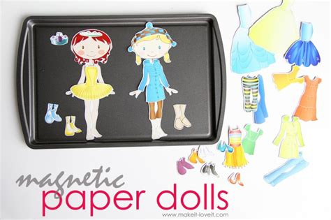 Make Your Own Paper Dolls - make your own magnetic paper dolls and a fabric cover for