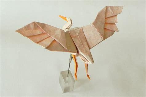 Origami Heron - white heron origami origami cranes