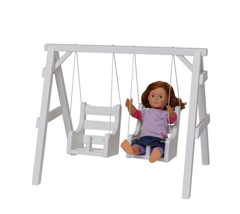 swing for dolls doll swing fits the american girl doll solid wood by