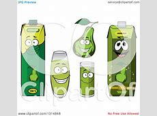 Clipart of Green Pear and Juice Characters - Royalty Free ... Green Juice Clipart