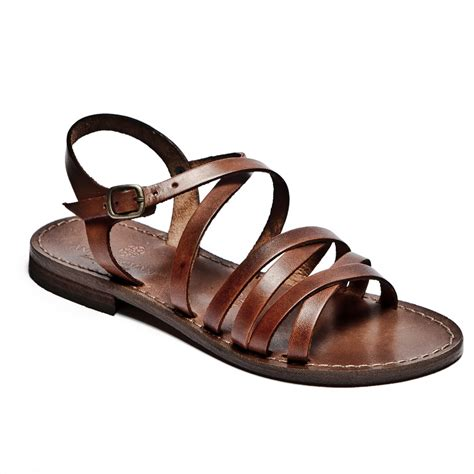 leather sandals handmade italian sandals womens flat leather sandals