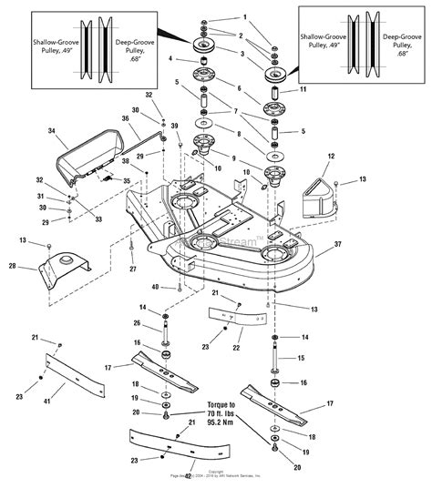 simplicity mower deck diagram simplicity 2690967 mf2522 22hp b s hydro and 44 quot mower