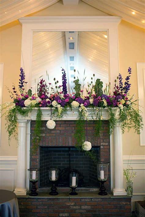 wedding wednesday fireplace mantles flirty fleurs the