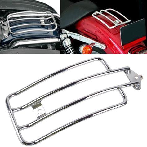 Harley Rack by Chrome Seat Rear Fender Luggage Rack Harley Honda