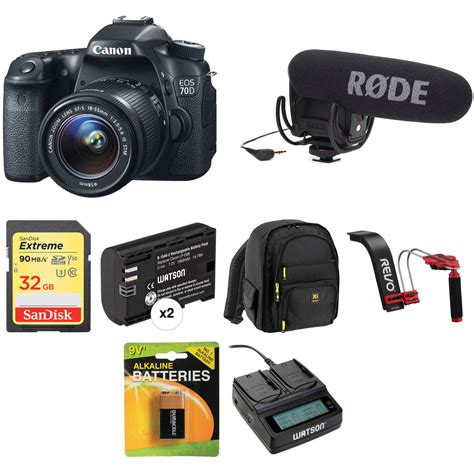 Kamera Dslr Canon 70d Kit canon eos 70d dslr with 18 55mm lens kit b h photo
