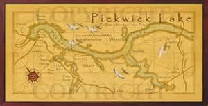 Lake Cabin Decor Old Field Studio Pickwick Lake Treasured Map
